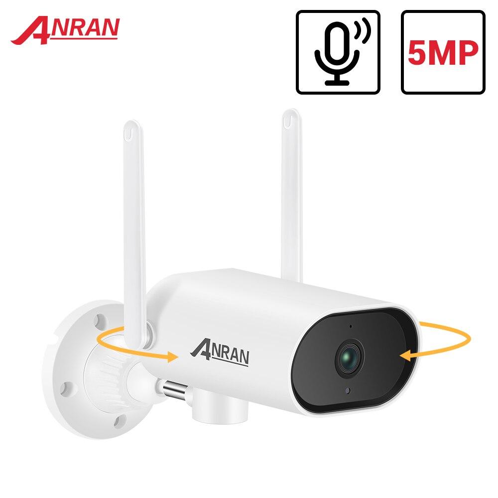 ANRAN 5MP PTZ IP камера WIFI камера безопасности наружная камера видеонаблюдения двухсторонняя аудио Водонепроницаемая камера ночного видения