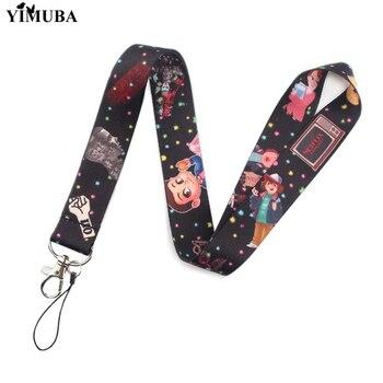 YIMUBA 참신 낯선 것들 TV 시리즈 키 체인 Lanyards USB ID 카드 배지 홀더 휴대 전화 목 스트랩 웨빙 열쇠 고리