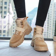 Sneakers men running shoes 2019 new fashion solid winter boots plush ankle lace-up casual sneakers