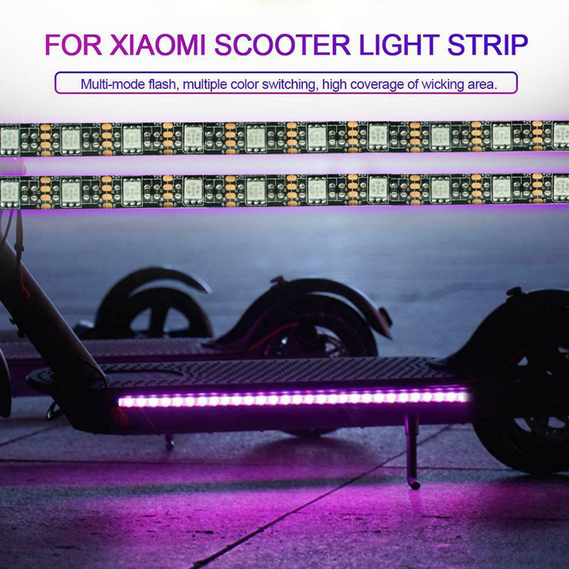 2 Pcs LED Light Strip Band Chassis Lamp Waterproof Accessory for Xiaomi M365 Scooter JA55