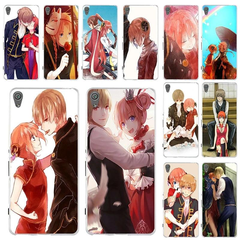 Okita Sougo Kagura Gintama Soft Mobile Phone Cases For Sony Xperia Z Z1 Z2 Z3 Z4 Z5 Compact Z5 Premium M2 M4 M5 E3 E5 T3 Xa Xa1 Phone Case Covers