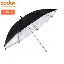 43 дюйма/110 см студийный светоотражатель черный, серебристый цвет отражающий зонт полезно в профессиональная студийная съемка