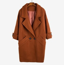 2019 New Spring Autumn Womens Wool Coat Fashion Long Woolen Single Breasted Slim Type Female Winter Coats