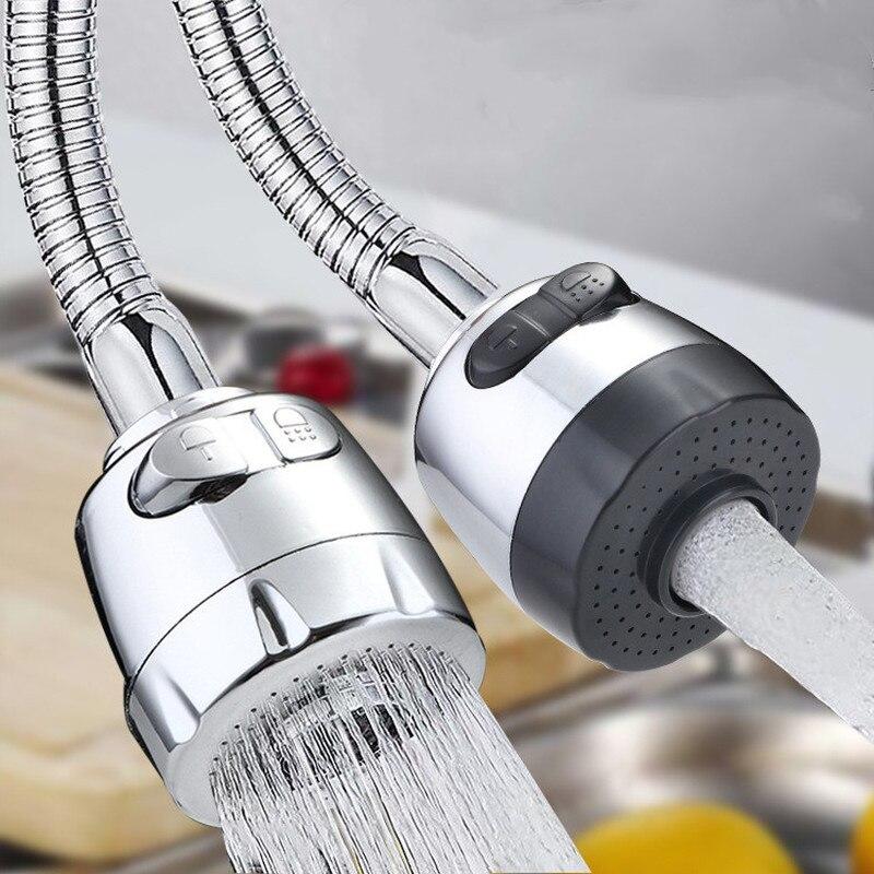 Регулируемый барботер для крана, насадка с фильтром для водопроводной воды 360, гибкий аэратор для крана, диффузор, универсальный адаптер для...