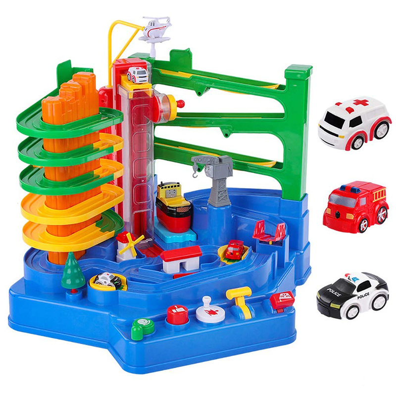 Big Type Plastic Manual Car Adventure Track Toys For Children Educational Simulation Parking Lot Toys Interactive Gift For Boy, арт. 4000135918123/4, цена 65 $, фото и отзывы