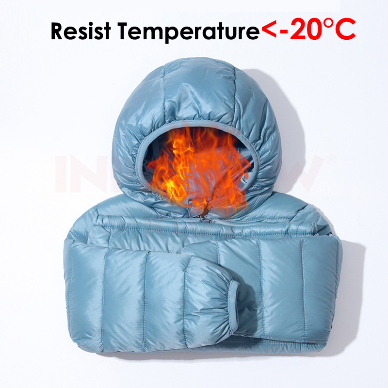 INPEPNOW Children's Down Jacket for Girl Winter Coat Winter Overall for Boy 90% Down Feather Winter Kids Parka for Girls Monkler 5