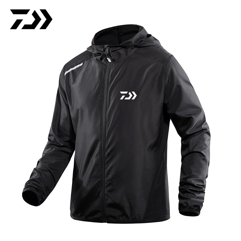 Daiwa Spring Summer New Fishing Jacket Sun Protection Hooded Men Outdoor Breathable Anti-UV  Hoodie Sports Running Shirt