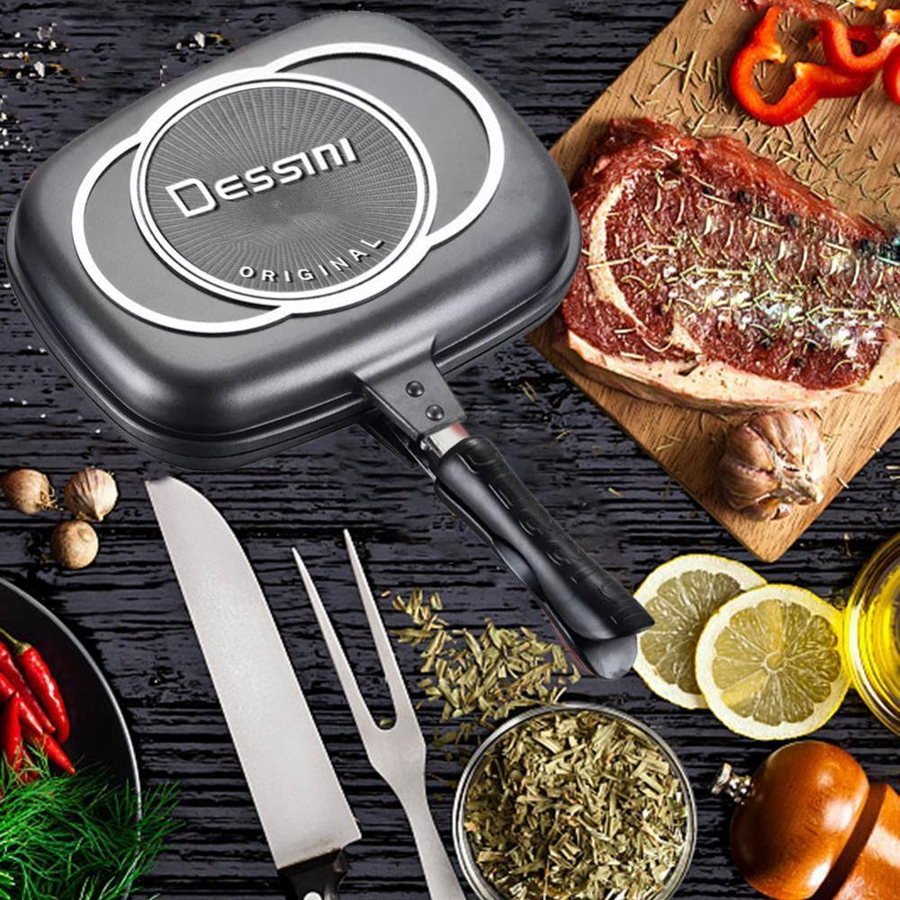Die Casting Double Sided Fry Pan Grill Pan Multifunctional non-stick pan frying pan for kitchen 1