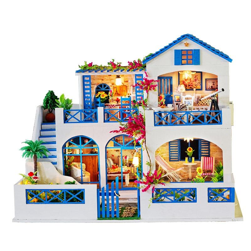 2019 Горячая продажа DIY деревянный сад модель здания Кукольный дом креативная ручная головоломка игрушка для детской мебели модель подарок на день рождения