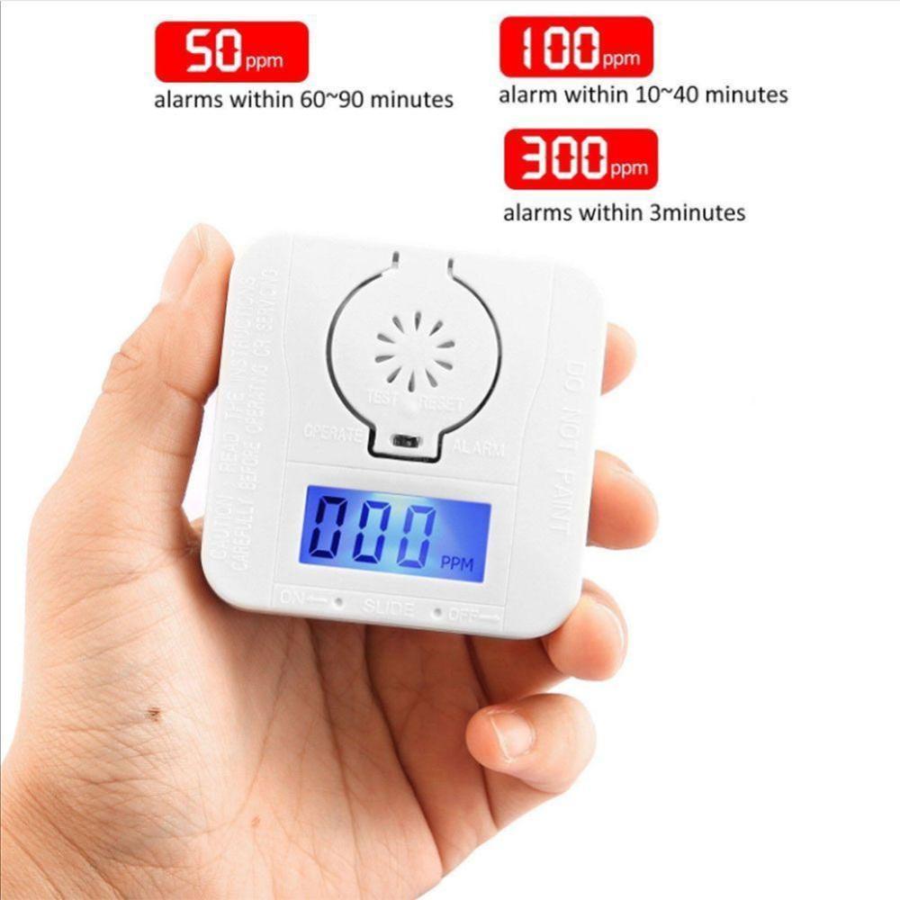 Carbon Monoxide Alarm CO Gas Detector Battery Operated Digital LED Display Sensor NEW!