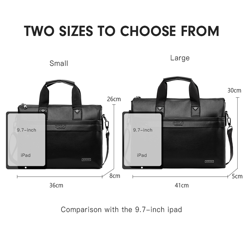 Image 5 - VICUNA POLO Top Sell Fashion Simple Dot Famous Brand Business Men  Briefcase Bag Leather Laptop Bag Casual Man Bag Shoulder bagsbag  snoopybag of white sugarbag filter