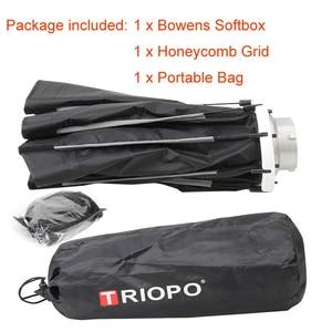 Image 5 - Triopo 65cm תמונה Bowens הר Softbox w/כוורת רשת נייד חיצוני מתומן מטרייה רך תיבת עבור וידאו סטודיו godox
