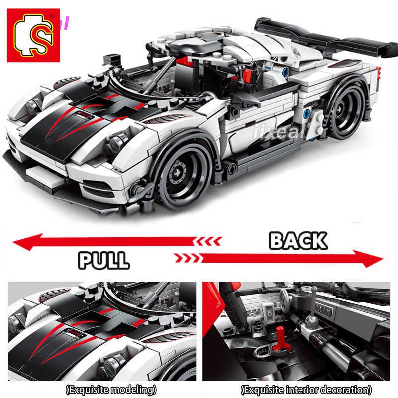 625 + pcs Fit Lego Technic Velocità Auto Bulding Blocchi Sembo Velocità Campione MOC Mattoni Creatore Esperto Giocattoli Regali SEMBO BLOCCO