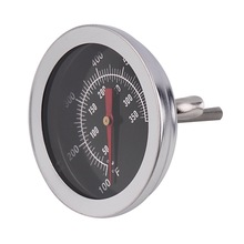 Temp-Gauge Bbq-Smoker-Pit-Grill with Dual-Gage 500-Degree Cooking-Tools Bimetallic Stainless-Steel