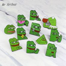 Funny Frog Enamel Pin Verity Emotions Brooch Denim Backpack Clothes Fashion Jewelry Gift for Friends Kids