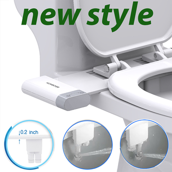 Toilet Seats Bidet Non-Electric Bidet Attachment Self-Cleaning Sprayer Mechanical Nozzle Muslim Shattaf Wash Anal Shower