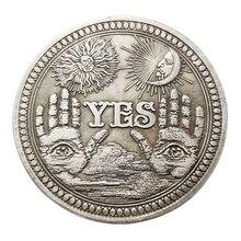 1 шт. бронза да нет памятная монета сувенир вызов Коллекционная Коллекция монет Искусство ремесло подарки Прямая поставка