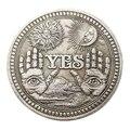 1PC Bronze Ja Keine Gedenkmünze Souvenir Herausforderung Sammeln Münzen Sammlung Kunst Handwerk Geschenke Drop Verschiffen