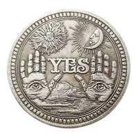 Moneda conmemorativa de bronce, colección de monedas coleccionables, regalo artesanal, envío directo, 1 unidad