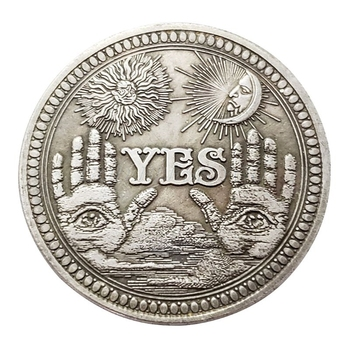 1PC Bronze Yes No Commemorative Coin Souvenir Challenge Collectible Coins Collection Art Craft Gifts Drop Shipping