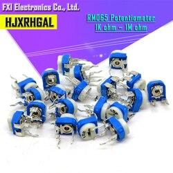 Rm065 RM-065 100 200 500 1k 2k 5k 10k 20k 50k 100, 20 peças aparador de potenciômetro k 200k 500k, resistor variável, 1m ohm