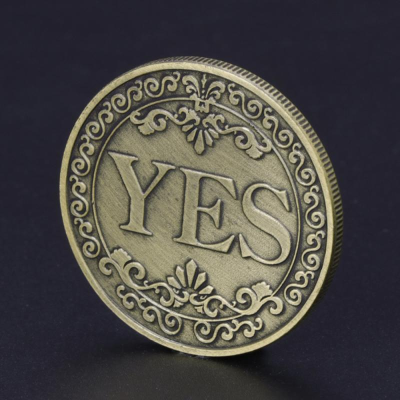 1Pcs Creative Alloy Coin Collectible Great Gift Yes Or No Decision Coin Art Collection YES NO Letter Commemorative Coin