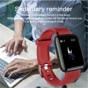 Image 4 - スマートウォッチ 116 プラスカラー画面心拍数リストバン腕時計スマートバンド防水スマートウォッチandroid ios