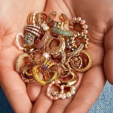 Boucles d'oreilles à clips en forme de C et de perle pour femmes, bijoux de mariage, couleur or, empilables, sans piercing, tendance, 2020