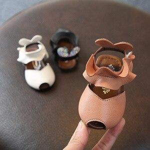 Летняя обувь принцессы для девочек; сандалии для маленьких девочек; кожаная детская обувь на плоской подошве; платье принцессы; детская обу...
