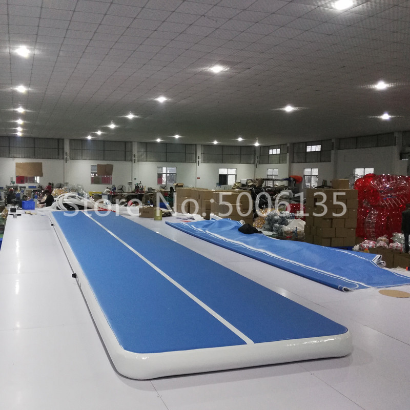 2020 New Airtrack 4m 5m 6m Inflatable Air Tumble Track Olympics Gym Mat Yoga Inflatable Air Gym Air Track Home use On Sale