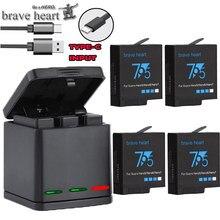 Высокое качество полностью декодированная батарея Go pro hero 7 батарея для GoPro Go pro hero 5 6 7 hero 5 hero 6 hero 7 black аксессуары для камеры