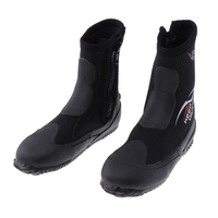 Wetsuits Premium Neoprene 5mm Hi Top Zipper Boot Water Shoes, Super Stretch & Keep Warm for Scuba Diving Surfing, Snorkeling