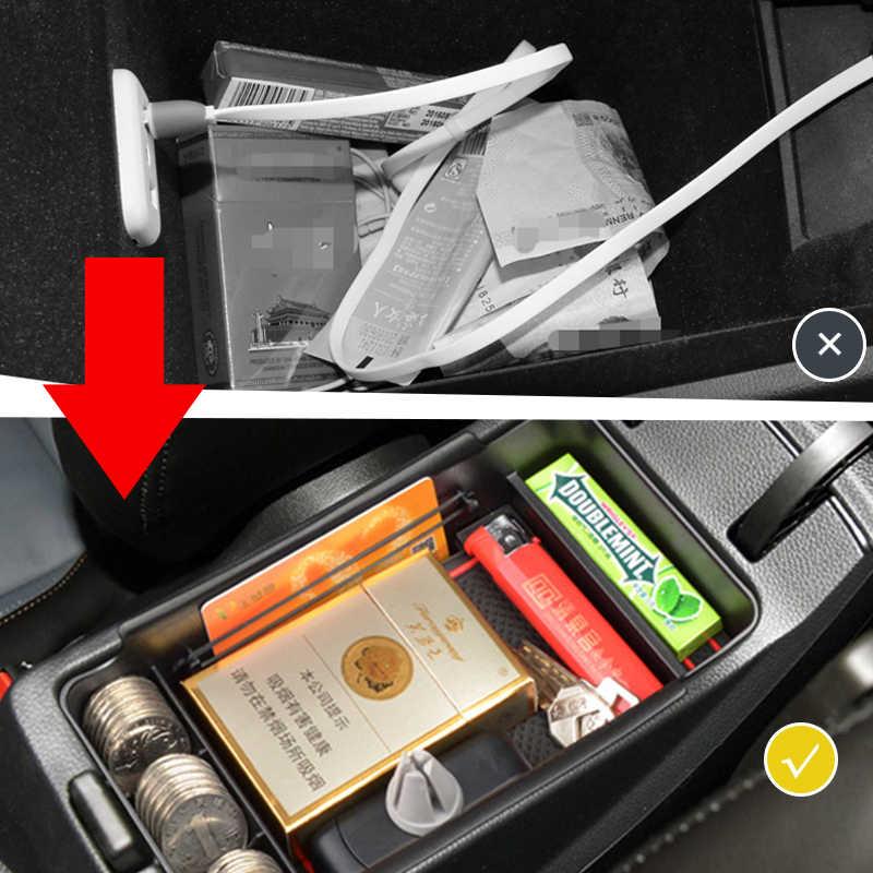 Mobil Organizer Aksesoris untuk Mazda 3 2019 2020 2021 BP Mazda3 Sedan Hatchback Sandaran Tangan Kotak Penyimpanan Kotak Koin Kartu Anti -Slip Tikar