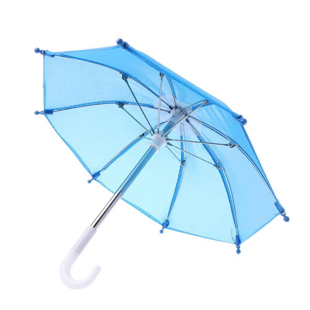 Colorful Mini Umbrella Rain Gear For Blythe American Doll 18 Inch Doll Accessories Baby Photography Props Kids Toy(China)