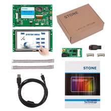Module d'affichage LCD HMI TFT de 5 pouces, avec touche + contrôleur PCB + logiciel supportant tout MCU