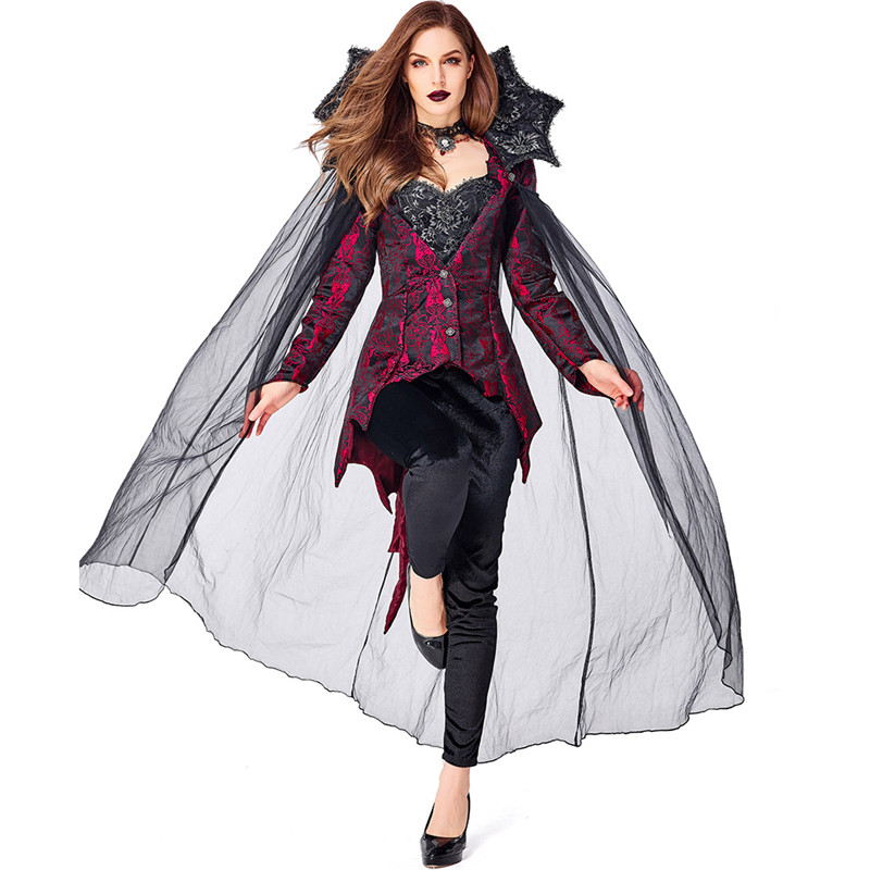 <font><b>Halloween</b></font> <font><b>Costume</b></font> <font><b>Sexy</b></font> <font><b>Vampire</b></font> <font><b>Costume</b></font> Women Masquerade Party Cosplay Gothic <font><b>Halloween</b></font> Dress <font><b>Vampire</b></font> Role Play Clothing Witch image
