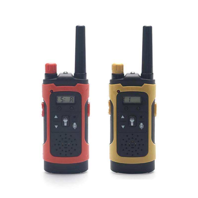 2pcs Children Walkie Talkies With LED Light Long Distance Handheld Wireless Call Electronic 2 Way Radio Kids Educational Toys