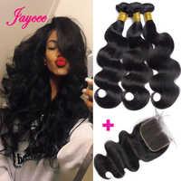 Jaycee Hair Brazilian Body Wave Bundles with Closure Remy Human Hair Bundles with Closure Bodywave meche bresilien