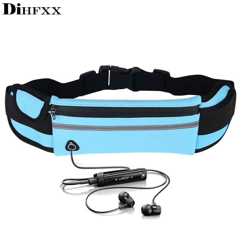 DIHFXX Waterproof Mini Fanny Pack For Women Men Portable Convenient USB Waist Pack Travel Multifunctional Fashion Phone Belt Bag