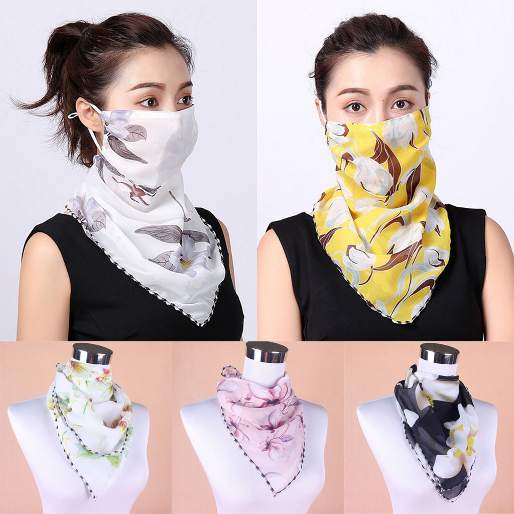 Women's Sunscreen Scarf Neck Scarf Mask Printed Scarf Dustproof Wear A Mask Neck Protection Mask Scarf шарф Y409