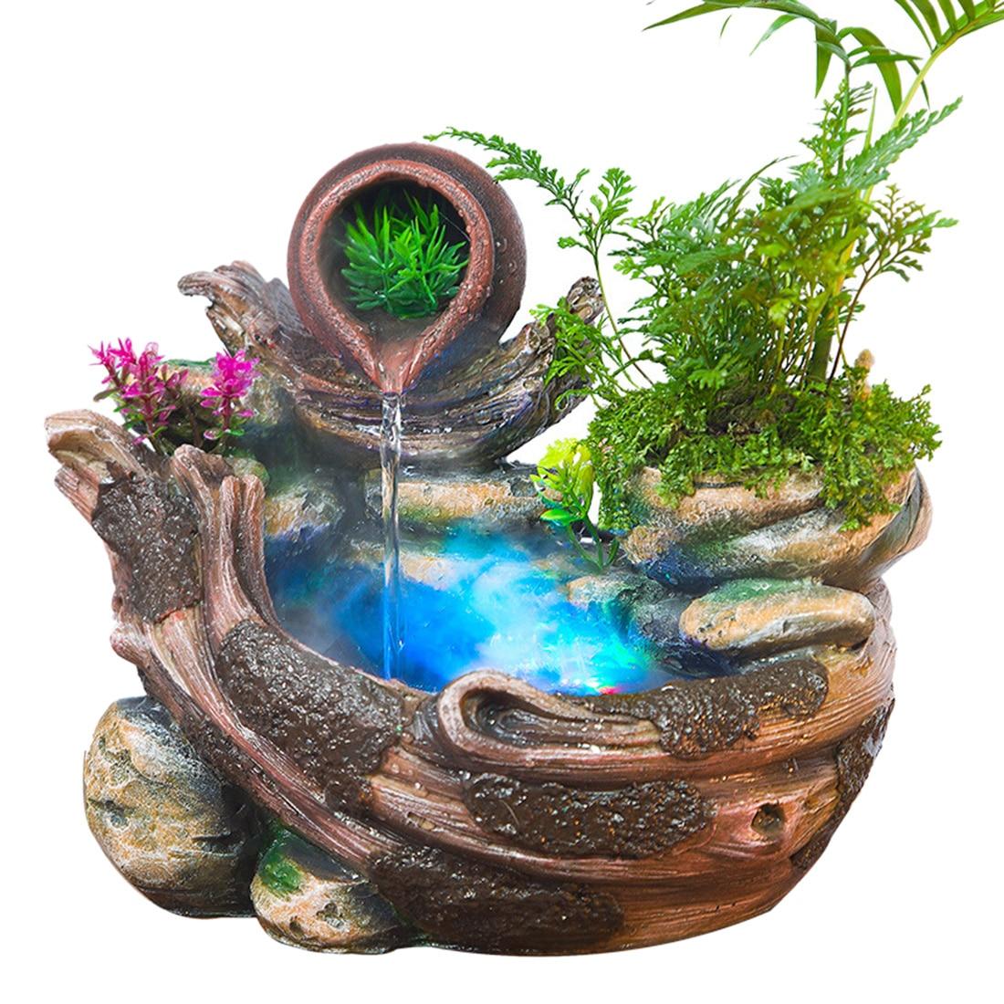 Альпинарий фонтан Обои для рабочего стола китайский фэн-шуй украшения Крытый увлажнитель воздуха Украшения дома и офиса