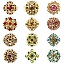WEIMANJINGDIAN Лот из 12 штук Кристалл Стразы цветок брошь набор булавок для DIY свадебный букет наборы ювелирные изделия аксессуары