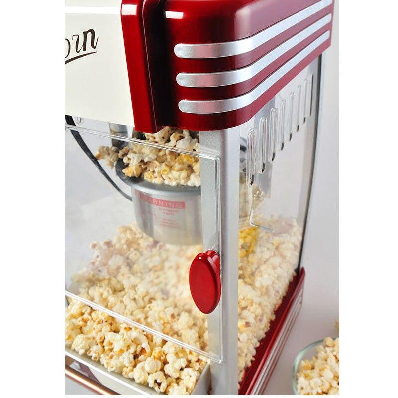 220 В новая машина для попкорна Коммерческая Автоматическая Ручная мини маленькая детская машина для попкорна шаровая хозяйственная сумка