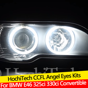 Hight Quality CCFL Angel Eyes Kit Warm White Halo Ring For BMW E46 325ci 330ci Convertible Coupe LCI xenon headlight Demon Eye image