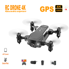 цена Mini RC Drone 4K Camera HD 5G WiFi FPV Drone Gesture Photo APP Control GPS Altitude Hold Mode Foldable RC Drones Quadcopter Kit онлайн в 2017 году