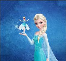 2019 RC Induction Fairy Magical snow princess elsa anna Dolls Suspension Flying doll toys drone Girl Childrens Gift Figure Toys
