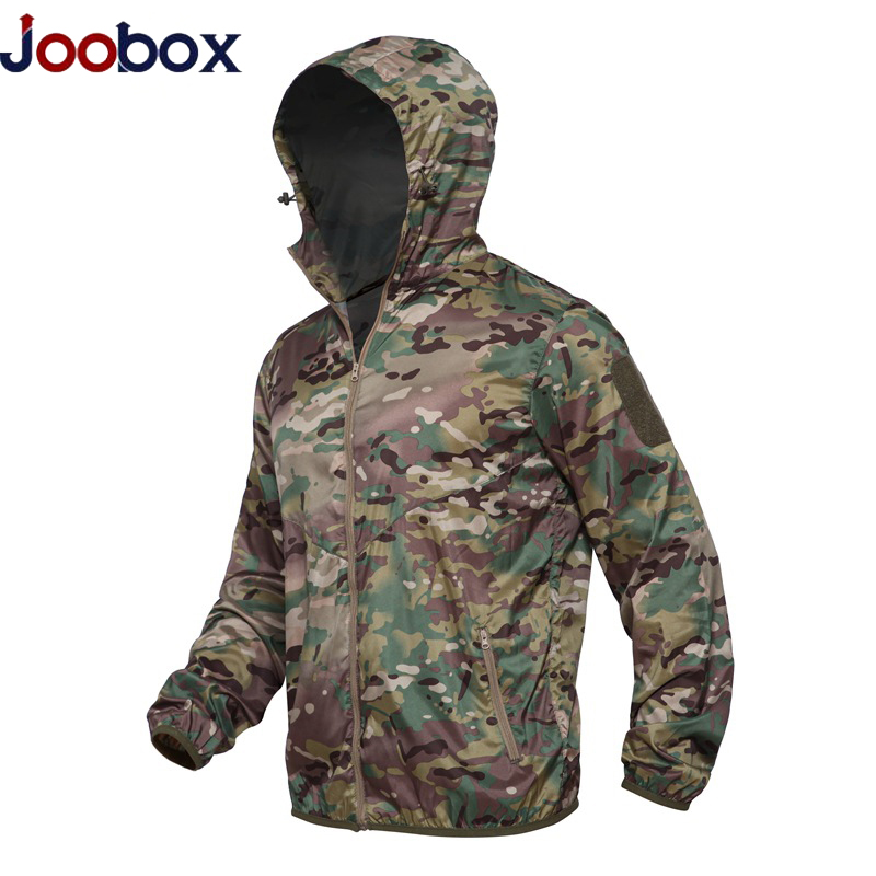 Military Jacket Camo Hoody Windbreaker Lightweight Tactical Male Breathable Summer 3XL