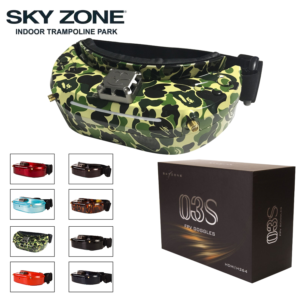 Skyzone SKY03O/SKY03S 5.8GHz 48CH Diversity FPV Goggles Support OSD DVR HDMI With Head Tracker Fan LED For RC Drone