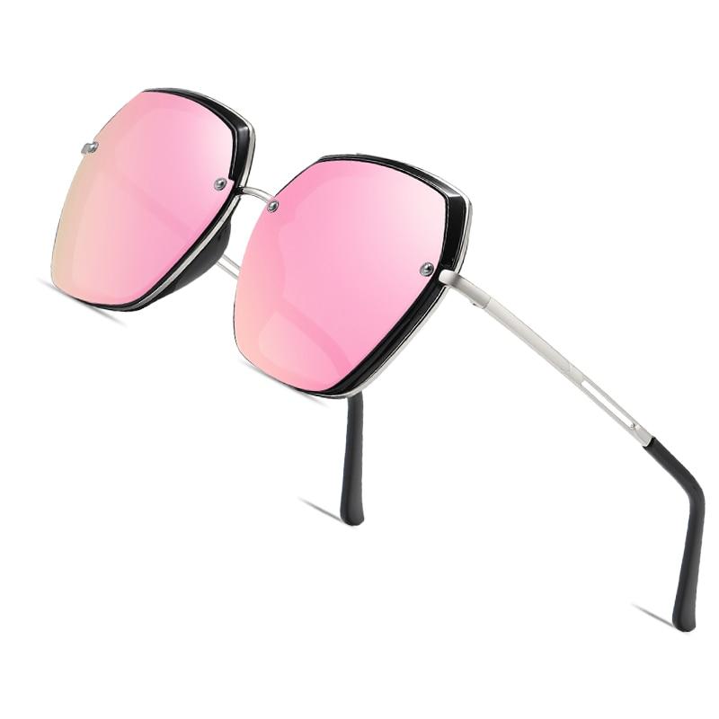 AOFLY BRAND Oversized Women's Sun Glasses Polarized Fashion Luxury Female Designer Mirror Sunglasses For Ladies Goggle UV400