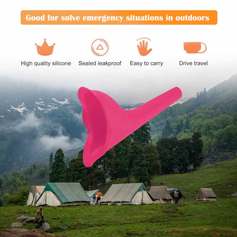 Dispositivo Urinario Femenino Orinal de Viaje Port/átil para Orinar de Pie Discreto Reutilizable Urinario Embudo para la Mujer Viajes SUPEROK Embudo para orinar Actividades al Aire Libre Camping